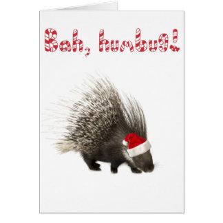 Bah, humbug! Porcupine card