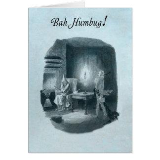 Bah Humbug Scrooge Christmas card. Card
