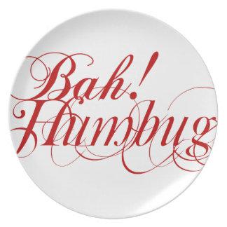 Bah! Humbug! typography plate