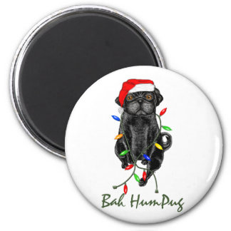 Bah HumPug Black Pug Magnet