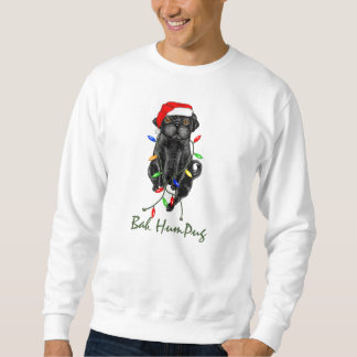 Bah HumPug Black Pug Sweatshirt