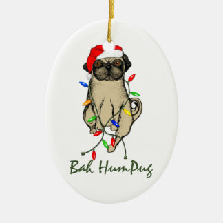 Bah HumPug Christmas Ornament