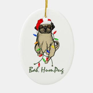 Bah HumPug Christmas Ornament