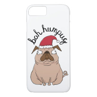 Bah Humpug Christmas Santa Pug Phone Case