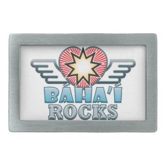 Baha'i Rocks Rectangular Belt Buckle