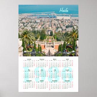 Bahá'í Gardens, Haifa. Calendar 1986 Posters