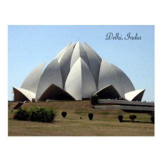 bahai lotus temple post card
