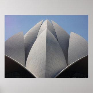bahai lotus temple print