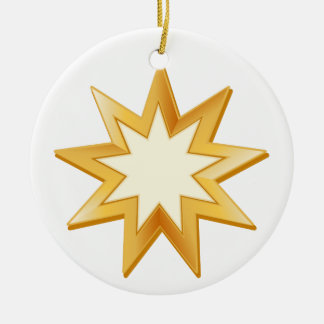 Baha'i Symbol Christmas Ornament
