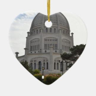 Bahai Temple in Wilmette,IL Ceramic Heart Decoration