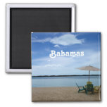 Bahama Beach Square Magnet