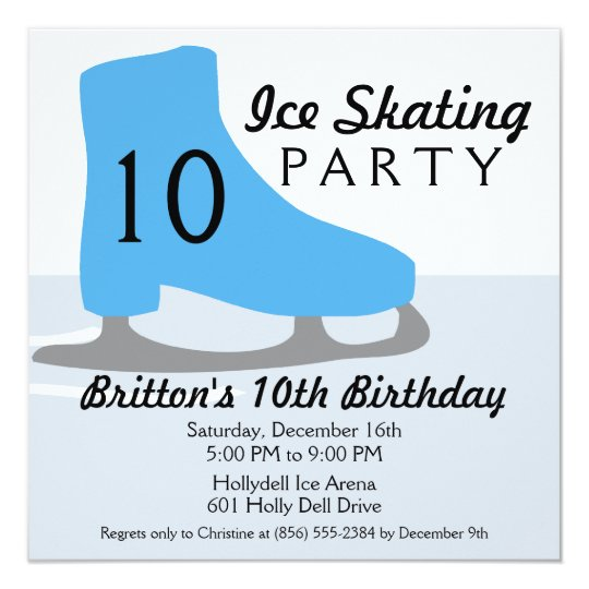 Bahama Blue Skate Date Ice Skating Birthday Party