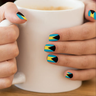 Bahama flag patriot nails minx nail art