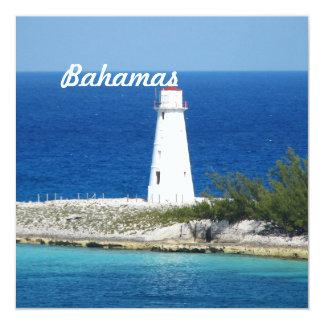 """Bahama Lighthouse 5.25"""" Square Invitation Card"""