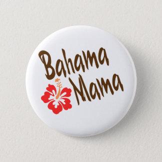 Bahama Mama design with Hibisucus flower 6 Cm Round Badge