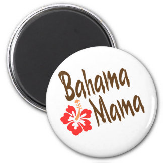 Bahama Mama design with Hibisucus flower 6 Cm Round Magnet