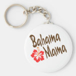 Bahama Mama design with Hibisucus flower Key Chains