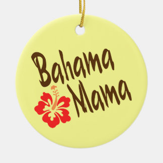 Bahama Mama with hibiscus Christmas Ornament