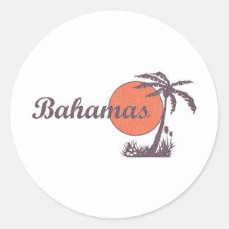Bahama Worn Classic Round Sticker