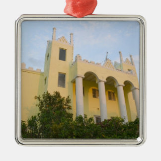 BAHAMAS, Abacos, Great Abaco Island, Marsh Silver-Colored Square Decoration