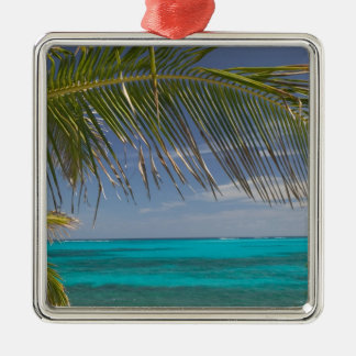 BAHAMAS, Abacos, Loyalist Cays, Man O'War Cay: Silver-Colored Square Decoration