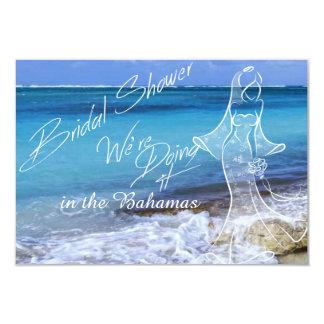 BAHAMAS BEACH SHORE Bridal Shower Personalized Announcement