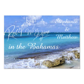 BAHAMAS BEACH SHORE Wedding Reception Card Personalized Invitation