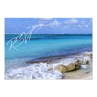 Bahamas Beach Wedding RSVP Custom Invites