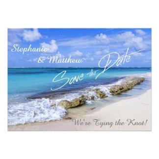 Bahamas Beach Wedding Save the Date Invite
