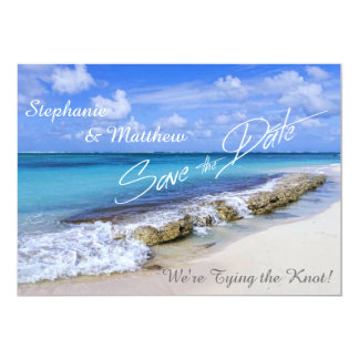 Bahamas Beach Wedding Save the Date 5x7 Paper Invitation Card