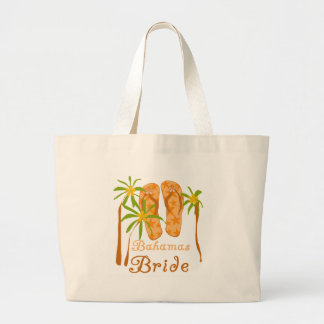 Bahamas Bride Large Tote Bag