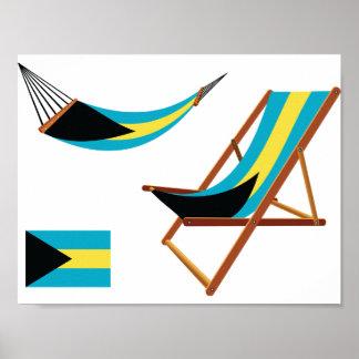 Bahamas Chairs Poster