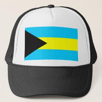Bahamas country flag symbol long trucker hat