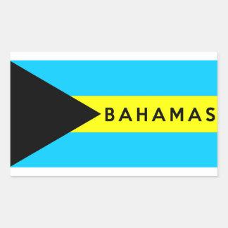 bahamas country flag symbol name text rectangular sticker