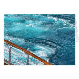 Bahamas Cruise - Turquoise Wake Card