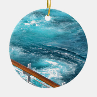 Bahamas Cruise - Turquoise Wake Christmas Ornament