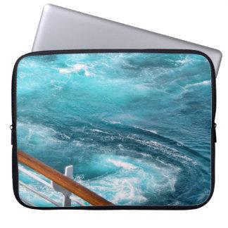 Bahamas Cruise - Turquoise Wake Laptop Computer Sleeve