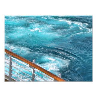 Bahamas Cruise - Turquoise Wake Photograph