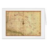 Bahamas & Cuba Map 1650 Card