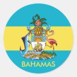 bahamas emblem round stickers
