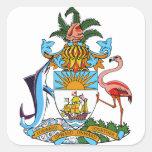 bahamas emblem square sticker
