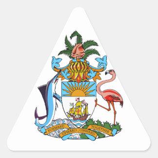 bahamas emblem triangle sticker