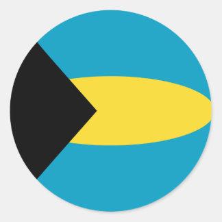 Bahamas Fisheye Flag Sticker