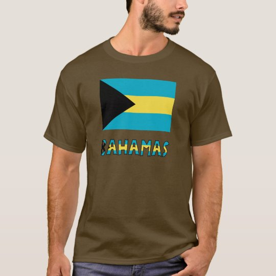 Bahamas Flag and Word T-Shirt