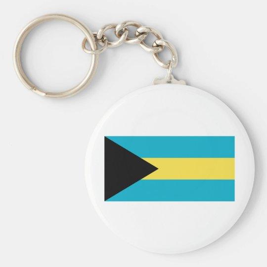 Bahamas Flag Basic Round Button Key Ring