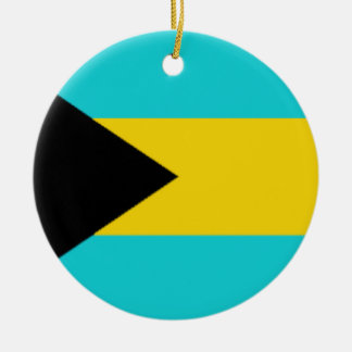 Bahamas Flag Christmas Ornament