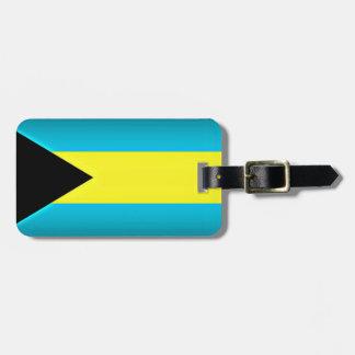 Bahamas Flag Dark Edge Luggage Tag