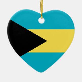 Bahamas Flag Heart Ceramic Heart Decoration