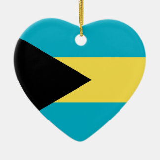 Bahamas Flag Heart Christmas Ornament