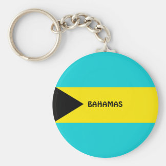 Bahamas flag key ring